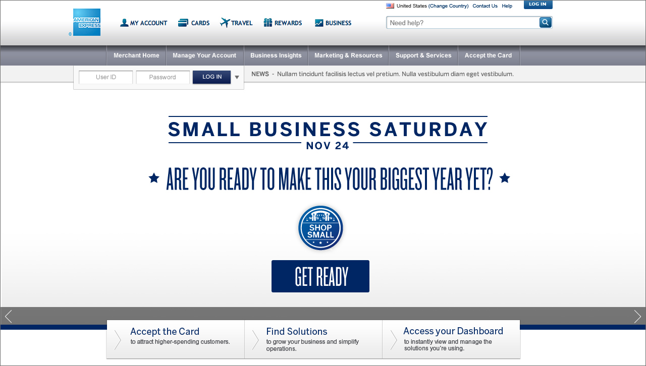 American Express / Small Business Saturday / Shop Small