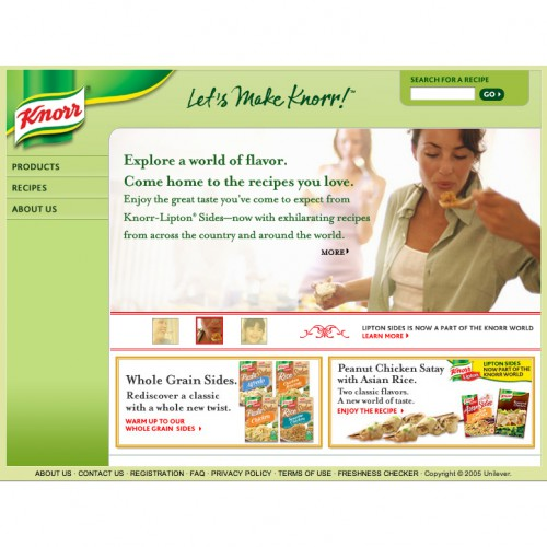 Knorr Foods - Website