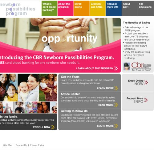 Cord Blood Registry - Newborn Possibilities Program